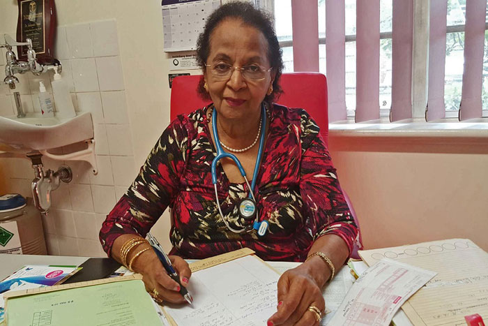 Dr Indumati Prasad di kantornya (supplied)